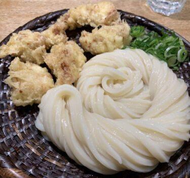 東京新宿『うどん慎(しん)』大行列の茹でたて揚げたてかしわ天ざるうどん!