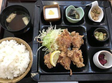 倉敷駅前『倉敷食堂バル』鶏のから揚げ定食ランチと無料ドリンクバー!