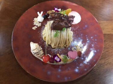 倉敷笹沖『ボンボヤージュ』ログハウスカフェで映えるモンブランとケーキ!