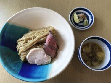 岡山総社『つけそば屋やまいも』トロトロとろろとローストビーフのつけ麺!