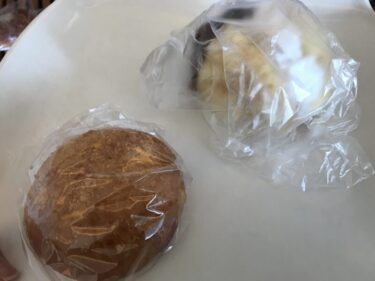 岡山西大寺『ネコノテカフェ』つむぎコッペが作るカレーパンとメロンパン!