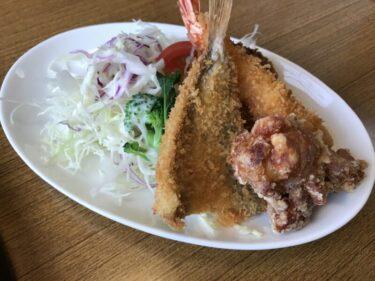 岡山西市『居酒屋ぶん福』から揚げミックスフライ定食とにぎり寿司ランチ!